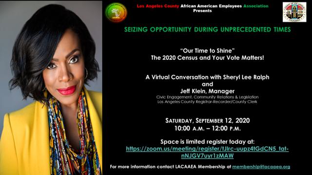 LACAAEA General Membership Virtual Event @ Virtual Experience